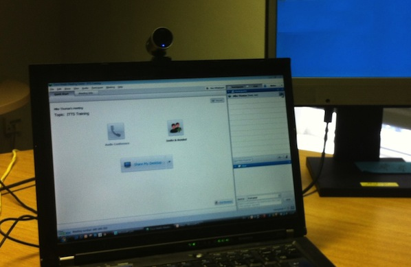Using a Webcam with Webex in Virutal Training